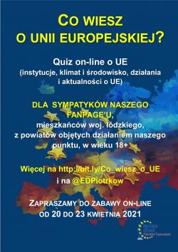 Plakat Co wiesz o UE